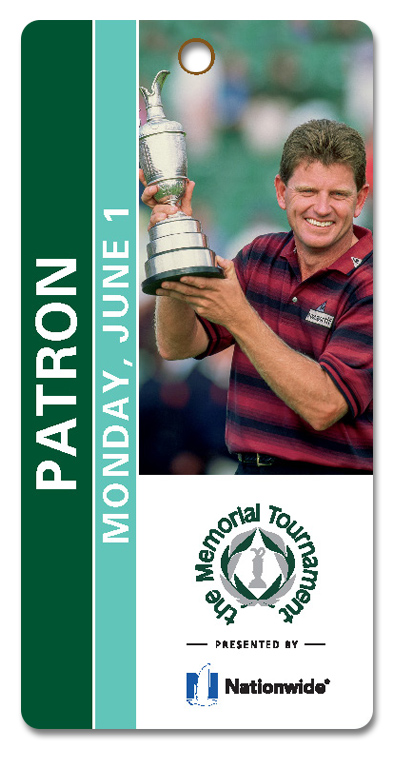 Example of Patron Monday Practice Round Ticket