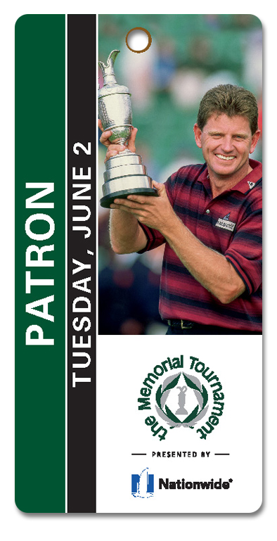 Example of Patron Tuesday Practice Round Ticket